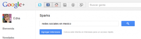 Agrega intereses a Google +
